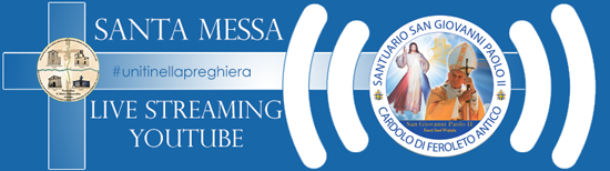 Banner live streaming S.Messa